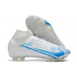 Nike Mercurial Superfly 8 Elite FG Tacos Blanco Azul