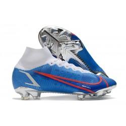 Nike Mercurial Superfly 8 Elite FG Tacos Azul Blanco Rojo