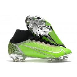 Nike Mercurial Superfly VIII Elite FG Verde Plata Negro