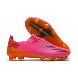 Botas de fútbol Adidas X Ghosted.1 FG Rosa Negro Naranja