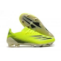 Botas de fútbol Adidas X Ghosted.1 FG Amarillo Solar Negro Azul Royal