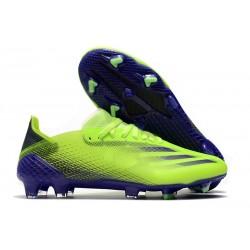 Botas de fútbol adidas X Ghosted.1 FG Verde Tinta Energía
