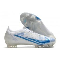 Tacón de Fútbol Nike Mercurial Vapor 14 Elite FG Blanco Azul