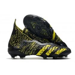 Zapatillas de Fútbol adidas Predator Freak + FG Negro Amarillo