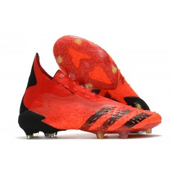 Zapatillas de Fútbol adidas Predator Freak + FG Rojo Negro Rojo Solar