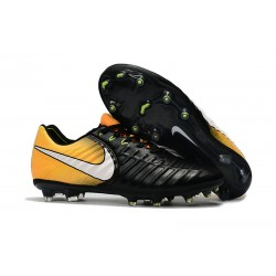 Nike Tiempo Legend 7 FG Zapatillas de Fútbol para Hombre Negro Blanco Amarillo