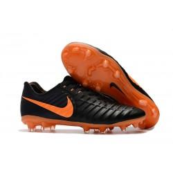 Botas de fútbol Nike Tiempo Legend VII FG Negro Laser Naranja