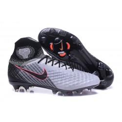 Nuevo Botas de fútbol Nike Magista Obra 2 FG Gris Negro
