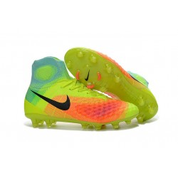 Nuevo Botas de fútbol Nike Magista Obra 2 FG Volt Negro Naranja