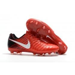 Nike Tiempo Legend 7 FG Zapatillas de Fútbol para Hombre Rojo Negro Blanco