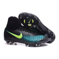 Botas de fútbol Para Hombre - Nike Magista Obra II FG Negro Azul Verde