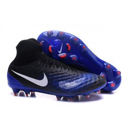Nuevo Botas de fútbol Nike Magista Obra 2 FG Negro Azul Blanco