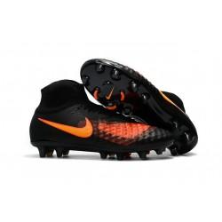 Nuevo Botas de fútbol Nike Magista Obra 2 FG Negro Naranja