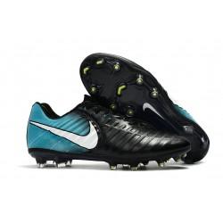 Nike Tiempo Legend 7 FG Zapatillas de Fútbol para Hombre Negro Azul Blanco