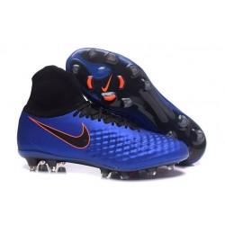 Botas de fútbol Para Hombre - Nike Magista Obra II FG Azul Negro Naranja