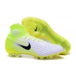 Botas de fútbol Para Hombre - Nike Magista Obra II FG Blanco Negro Volt