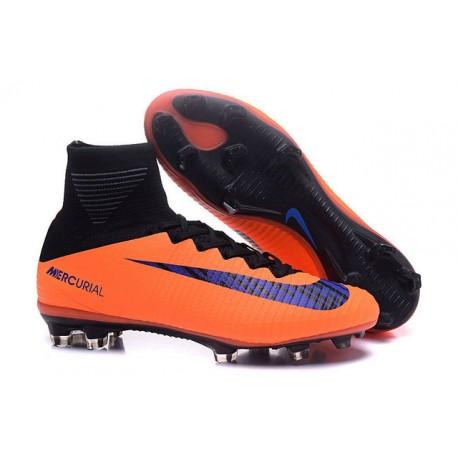 low priced 212e8 b676f 2018 Botas de fútbol Nike Mercurial Superfly V FG Naranja Negro Violeta