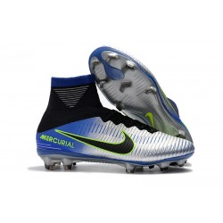 Bota de fútbol 2018 Nike Mercurial Superfly V FG CR7 Azul Negro Cromado Amarillo Volt