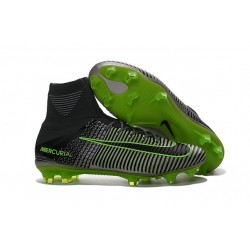 Nuevo Bota Nike Mercurial Superfly V FG ACC Gris Negro Verde