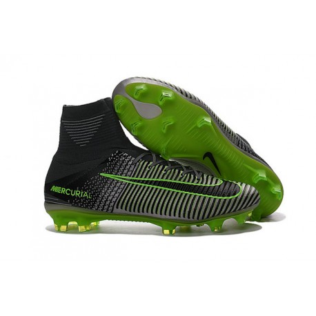 ... inexpensive nuevo bota nike mercurial superfly v fg acc gris negro verde  8e5e5 c5e2a e99b385550584