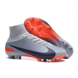 Bota de fútbol 2018 Nike Mercurial Superfly V FG CR7 Gris Negro Naranja