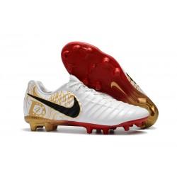 Tacos de futbol Nike Tiempo Legend 7 FG Blanco Dorado