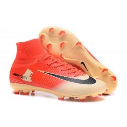 Botas de fútbol Nike Mercurial Superfly V CR7 FG Rojo Oro Negro