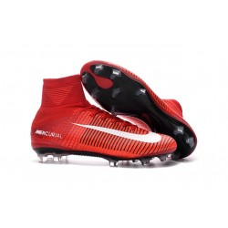 Zapatilla Nike Mercurial Superfly V CR7 FG Rojo Blanco Negro