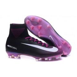 Nuevo Bota Nike Mercurial Superfly V FG ACC Negro Violeta Blanco