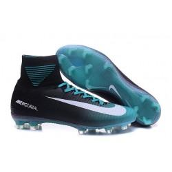 Botas de fútbol Nike Mercurial Superfly V CR7 FG Negro Azul Blanco