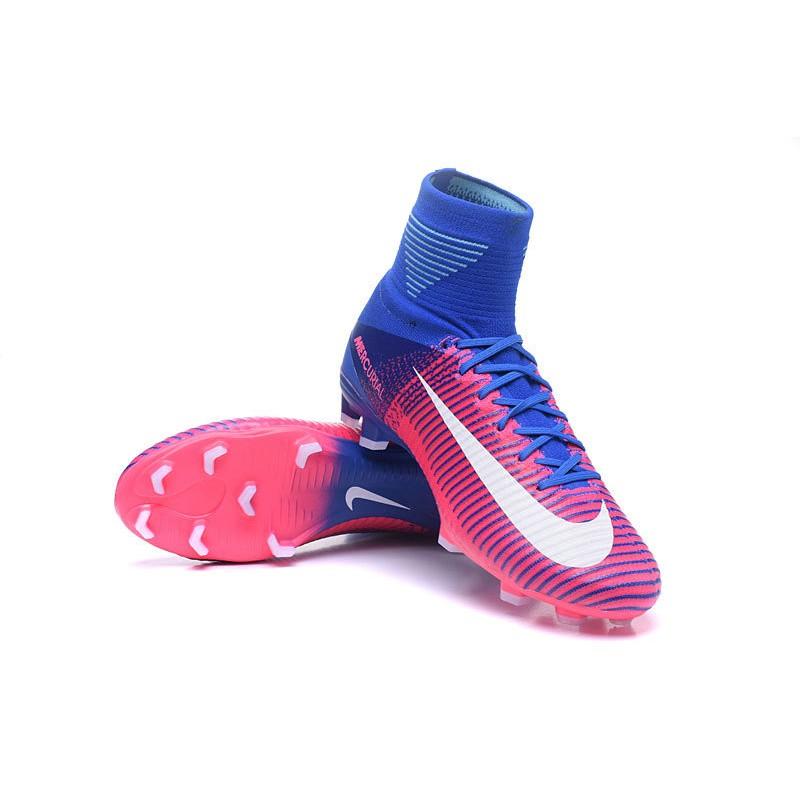 Bota 2018 Azul Mercurial Blanco Cr7 Fg V Fútbol Rosa Superfly Nike De EqwaxCrE