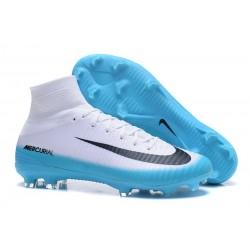 Botas de fútbol Nike Mercurial Superfly V CR7 FG Blanco Azul Negro