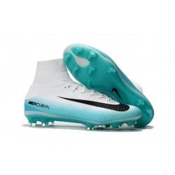 Zapatilla Nike Mercurial Superfly V CR7 FG Negro Blanco Azul