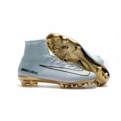 Botas de fútbol Nike Mercurial Superfly V CR7 FG CR7 Blanco Oro Negro