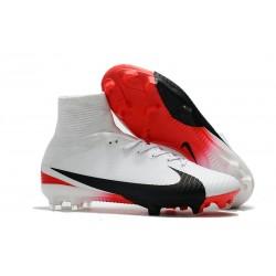 Nuevo Bota Nike Mercurial Superfly V FG ACC Blanco Rojo Negro