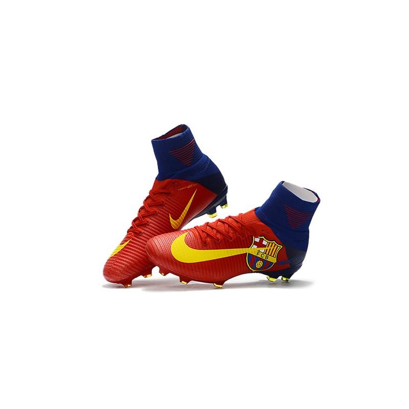 998773b6f67 Botas de fútbol Nike Mercurial Superfly V CR7 FG Barcelona FC Azul ...