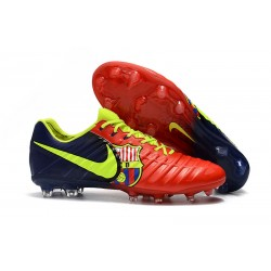 Nike Tiempo Legend VII FG Botas de Fútbol para Hombre Barcelona Volt Azul Rojo