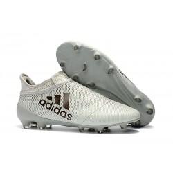 Botas de fútbol Adidas X 17+ Purespeed FG Para Hombre Blanco Negro