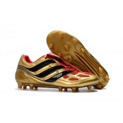 Adidas Predator Precision FG Zapatillas de fútbol Para Hombres Negro Oro Rojo