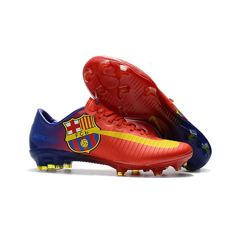 outlet store edd50 f4f57 Botas de fútbol Nike Mercurial Vapor XI FG Barcelona Rojo Azul Amarillo