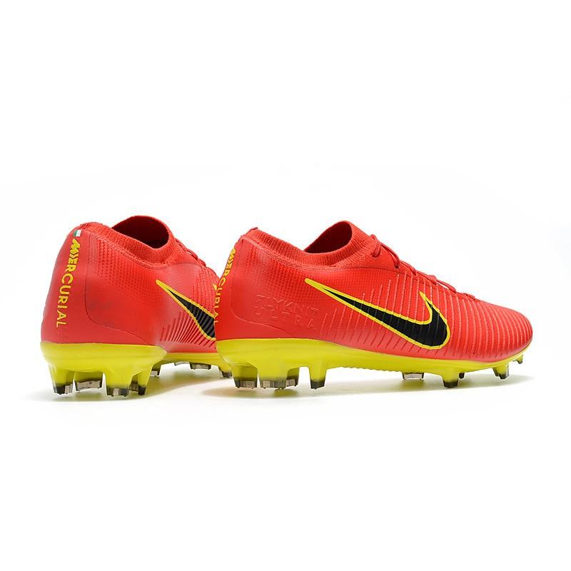 save off 61f47 4e417 Nuevo Botas de fútbol Mercurial Vapor Flyknit Ultra FG Rojo Amarillo ...