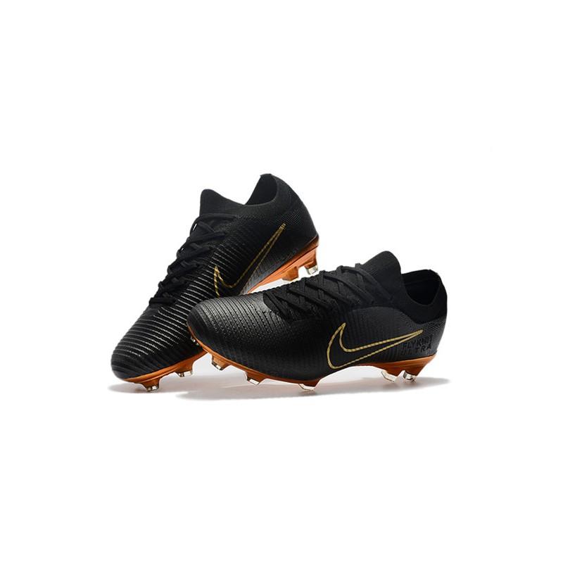 sports shoes 9bb9a b3aeb 2018 Botas Nike Mercurial Vapor Flyknit Ultra FG - Negro Oro