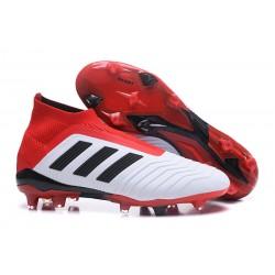 Botas de fútbol adidas Predator 18+ FG - Blanco Negro Rojo