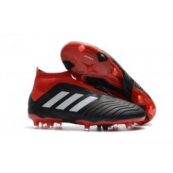 Zapatillas de fútbol adidas Predator 18+ FG - Negro Rojo Blanco