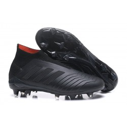 Zapatillas de fútbol adidas Predator 18+ FG - Todo Negro