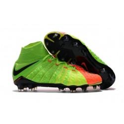 Botas de fútbol Nike HyperVenom Phantom III DF FG Para Hombre Verde Negro