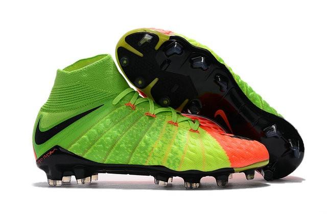 db2fba5dc83 Botas de fútbol Nike HyperVenom Phantom III DF FG Para Hombre Verde Negro