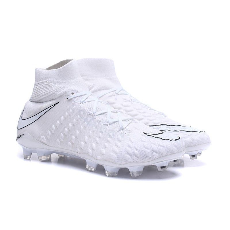 Nuevo Zapato de Fútbol Nike HyperVenom Phantom III DF FG Todo Blanco