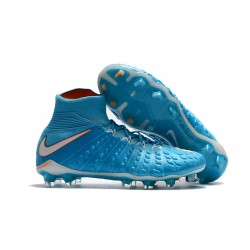 Botas de fútbol Nike HyperVenom Phantom III DF FG Para Hombre Azul Blanco Naranja