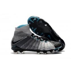 Botas de fútbol Nike HyperVenom Phantom III DF FG Para Hombre Gris Negro Azul